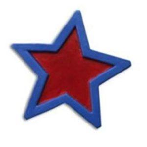 Dörrknopp röd stjärna